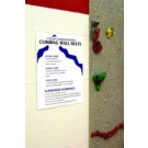 Climbing Wall Rules and Guideline Sign for Traverse Climbing Wall from Everlast Climbing