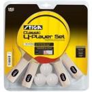 "Stiga ""Classic"" 4-Player Table Tennis Racket and Ball Set"