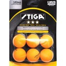 Stiga Three-Star Orange Table Tennis Balls