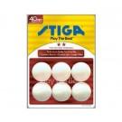 One-Star White Stiga® Table Tennis Balls - 1 Gross (144 Balls)