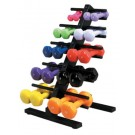 Vinyl Coated Dumbbell - 20 Piece Set with Floor Rack