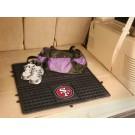 """San Francisco 49ers 31"""" x 31"""" Heavy Duty Vinyl Cargo Mat"""