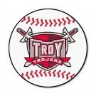"""27"""" Round Troy State Trojans Baseball Mat"""