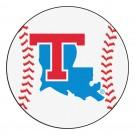 "27"" Round Louisiana Tech Bulldogs Baseball Mat"