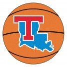 "27"" Round Louisiana Tech Bulldogs Basketball Mat"