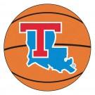 "27"" Round Louisiana Tech Bulldogs Basketball Mat"