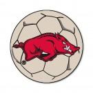 """27"""" Round Arkansas Razorbacks Soccer Mat"""