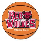 "27"" Round Arkansas State Red Wolves Basketball Mat"