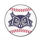 "29"" Round Rice Owls Baseball Mat"