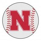 "27"" Round Nebraska Cornhuskers Baseball Mat"