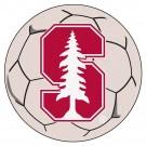 "27"" Round Stanford Cardinal Soccer Mat"