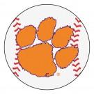 """27"""" Round Clemson Tigers Baseball Mat"""