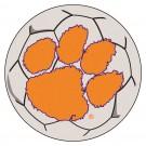 """27"""" Round Clemson Tigers Soccer Mat"""