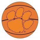 """27"""" Round Clemson Tigers Basketball Mat"""