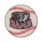 "27"" Round Alabama Crimson Tide Baseball Mat"
