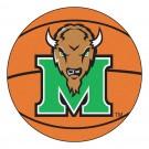 """27"""" Round Marshall Thundering Herd Basketball Mat"""