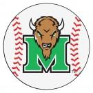 """27"""" Round Marshall Thundering Herd Baseball Mat"""