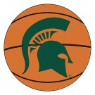 "27"" Round Michigan State Spartans Basketball Mat"