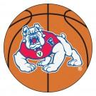 "27"" Round Fresno State Bulldogs Basketball Mat"