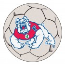 "27"" Round Fresno State Bulldogs Soccer Mat"