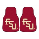 """Florida State Seminoles """"FS"""" 17"""" x 27"""" Carpet Auto Floor Mat (Set of 2 Car Mats)"""