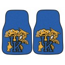 "Kentucky Wildcats 17"" x 27"" Carpet Auto Floor Mat (Set of 2 Car Mats)"