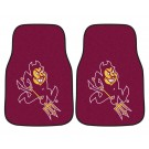 "Arizona State Sun Devils 17"" x 27"" Carpet Auto Floor Mat (Set of 2 Car Mats)"