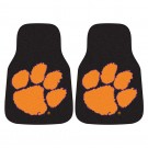 "Clemson Tigers 17"" x 27"" Carpet Auto Floor Mat (Set of 2 Car Mats)"