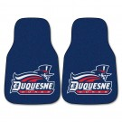 "Duquesne Dukes 17"" x 27"" Carpet Auto Floor Mat (Set of 2 Car Mats)"
