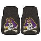 "East Carolina Pirates 17"" x 27"" Carpet Auto Floor Mat (Set of 2 Car Mats)"