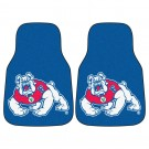 "Fresno State Bulldogs 17"" x 27"" Carpet Auto Floor Mat (Set of 2 Car Mats)"