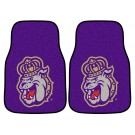 "James Madison Dukes 17"" x 27"" Carpet Auto Floor Mat (Set of 2 Car Mats)"