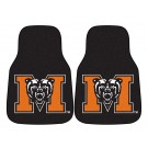 "Mercer (Atlanta) Bears 17"" x 27"" Carpet Auto Floor Mat (Set of 2 Car Mats)"