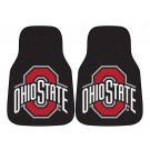 "Ohio State Buckeyes 17"" x 27"" Carpet Auto Floor Mat (Set of 2 Car Mats)"