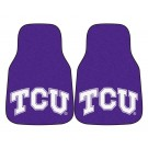 "Texas Christian Horned Frogs 17"" x 27"" Carpet Auto Floor Mat (Set of 2 Car Mats)"