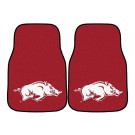 "Arkansas Razorbacks 17"" x 27"" Carpet Auto Floor Mat (Set of 2 Car Mats)"