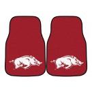 "Arkansas Razorbacks 17"" x 27"" Carpet Auto Floor Mat (Set of 2 Car Mats)"