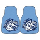 "North Carolina Tar Heels 17"" x 27"" Carpet Auto Floor Mat (Set of 2 Car Mats)"