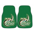 "North Carolina (Charlotte) 49ers 17"" x 27"" Carpet Auto Floor Mat (Set of 2 Car Mats)"
