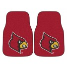 "Louisville Cardinals 17"" x 27"" Carpet Auto Floor Mat (Set of 2 Car Mats)"