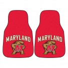 "Maryland Terrapins 17"" x 27"" Carpet Auto Floor Mat (Set of 2 Car Mats)"