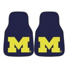 "Michigan Wolverines 17"" x 27"" Carpet Auto Floor Mat (Set of 2 Car Mats)"