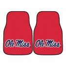 "Mississippi (Ole Miss) Rebels 17"" x 27"" Carpet Auto Floor Mat (Set of 2 Car Mats)"