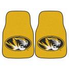 """Missouri Tigers 17"""" x 27"""" Carpet Auto Floor Mat (Set of 2 Car Mats)"""