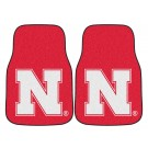 "Nebraska Cornhuskers 17"" x 27"" Carpet Auto Floor Mat (Set of 2 Car Mats)"
