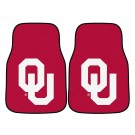 "Oklahoma Sooners 17"" x 27"" Carpet Auto Floor Mat (Set of 2 Car Mats)"