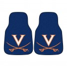 "Virginia Cavaliers 17"" x 27"" Carpet Auto Floor Mat (Set of 2 Car Mats)"