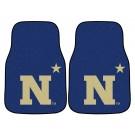 "Navy Midshipmen 17"" x 27"" Carpet Auto Floor Mat (Set of 2 Car Mats)"