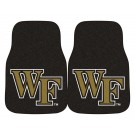 "Wake Forest Demon Deacons 17"" x 27"" Carpet Auto Floor Mat (Set of 2 Car Mats)"