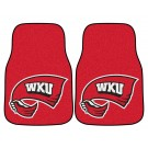 "Western Kentucky Hilltoppers 17"" x 27"" Carpet Auto Floor Mat (Set of 2 Car Mats)"